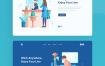 10个APP启动页插图优质设计素材下载