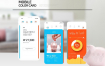 10套UI设计面试作业作品扁平手机APP交互界面PS模板PSD分层源文件素材