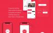 红色系聊天应用UI界面优质设计素材下载(提供Sketch格式下载)