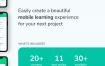 20多个在线学习体验UI工具包优质设计素材下载(提供Adobe XD格式下载)