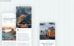 32个简洁清爽的面试毕业设计旅行套装app界面UI设计素材下载