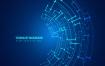 17款电子科技智能UI机器人科幻电路电线背景欧美设计EPS矢量素材