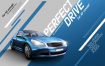 20款动感汽车创意合成宣传PSD模版海报展板户外平面设计促销广告素材