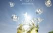 9款啤酒创意蓝色夏天冰块水果柠檬水花飞溅水元素海报psd设计素材