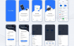 21个云存储移动应用app界面UI设计素材下载