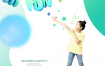 15款儿童手机插图教育模型卡通孩子读书学习海报PSD设计素材