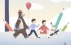 10款儿童梦想宇航员宇宙手绘手机壳壁纸插图插画PSD素材