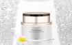 10款高端黑金美妆广告海报模板护肤品化妆品专题光效背景PSD设计素材