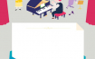 11款卡通插画幼儿园小学活动背景墙绘画装饰画插图AI矢量素材