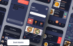 50多个食品外卖应用app界面设计UI套件白色和暗黑模式dark mode优质素材下载(提供figma格式下载)