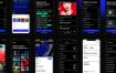 50个现代暗黑模式的聚合应用app界面优质设计素材下载(提供XD和sketch格式源文件)
