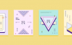 30款彩色平面设计几何线性排版封面布局矢量AI设计素材源文件
