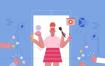 52款手绘卡通人物社交生活娱乐爱护环境作息插画矢量AI设计素材