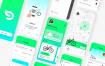 共享单车app ui sketch素材下载