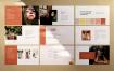 简洁文艺的PowerPoint模板设计素材下载