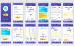 19款简约通用手机APP界面引导图UI设计UX参考作业AI矢量设计模板