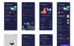 38个慢旅游出行散心精品app界面带暗黑模式程序的UI套件优质设计素材下载(提供Adobe XD格式下载)
