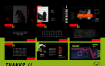 强烈撞色具有创造力的演讲PPT精美的设计素材下载