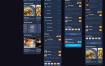 110带暗黑模式风格食品快餐美食食品配送UI工具包优质设计素材下载(提供Adobe XD格式源文件)