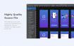 24个界面的出租车移动应用UI套件设计素材下载