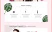 12款国外美容美妆护肤化妆品广告电商网页首页韩式PSD设计素材模板
