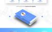 8款智能手机互联网科技APP功能展示PC端网站网页PSD模板素材